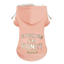 SWEAT POUR CHIEN A CAPUCHE - PONY - MILK AND PEPPER
