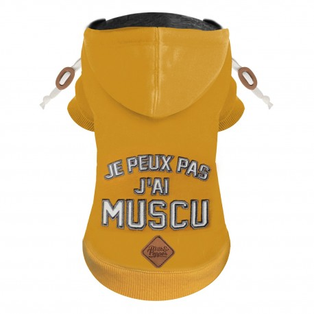 SWEAT POUR CHIEN CAPUCHE - CRUNCH - PULL MILK AND PEPPER