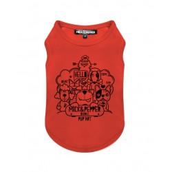 Tshirt pour chien DOODLE ORANGE - Milk&Pepper