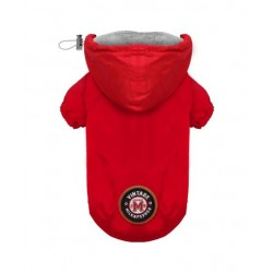 IMPERMEABLE POUR CHIEN A CAPUCHE - WINCH ROUGE - MILK AND PEPPER