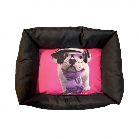 panier pour chien teo jasmin corbeille sofa pour chien bouledogue fran ais. Black Bedroom Furniture Sets. Home Design Ideas