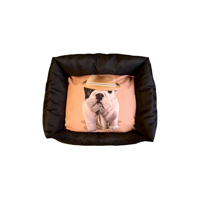 corbeille pour chien teo jasmin panier sofa pour chien bouledogue fran ais. Black Bedroom Furniture Sets. Home Design Ideas