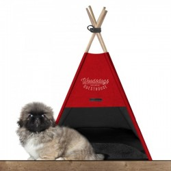 Couchage pour chien TEEPEE WOODSDOG ROUGE