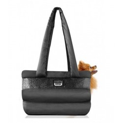 SAC DE TRANSPORT POUR CHIEN NOIR - CAPSULE - MILK AND PEPPER