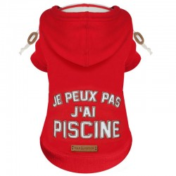 SWEAT POUR CHIEN A CAPUCHE - SWIM ROUGE - MILK AND PEPPER